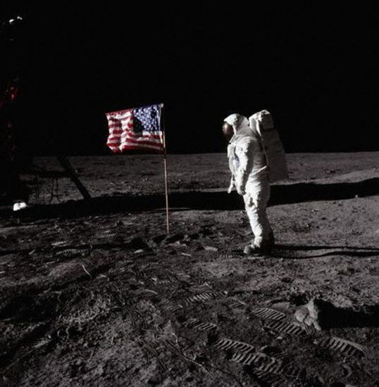 Базз Олдрин на поверхности Луны, июль 1969 год, Corbis