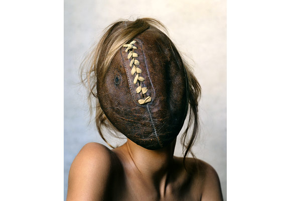 Irving Penn, Football Face, November 2002