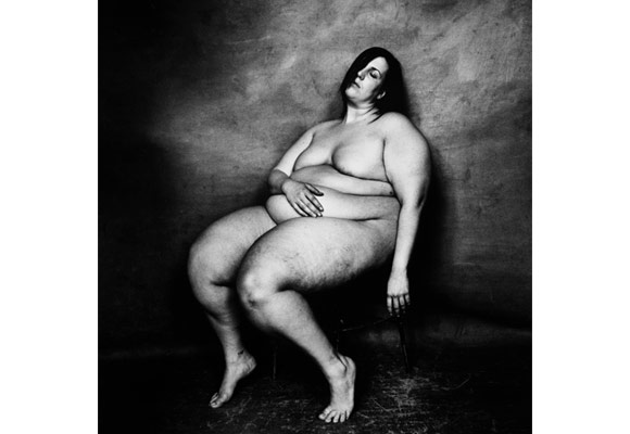 Irving Penn, Large Nude Woman Seated, April 2004