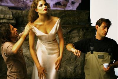 Backstage со съемок 17-ого календаря Lavazza, Энни Лейбовиц