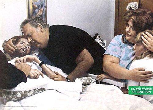 Дэвид Кирби, умирающий от СПИДа, для BENETTON, 1992