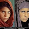 Afghan Girl Before and After, 1984 (left) and 2002 (right)