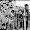 Jerusalem, ISRAEL. 1987. Children at play. Modern appartments occupied by religious families. - Леонард Фрид (Leonard Freed)