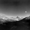 Autumn Moon, the High Sierra from Glacier Point, Yosemite National Park, California, 1948 - Ансел Эстон Адамс (Ansel Easton Adams)
