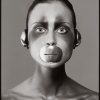 Natalia Semanova, mouthpiece and headphones by Tom Binns, New York, April 1998 - Ричард Аведон (Richard Avedon)